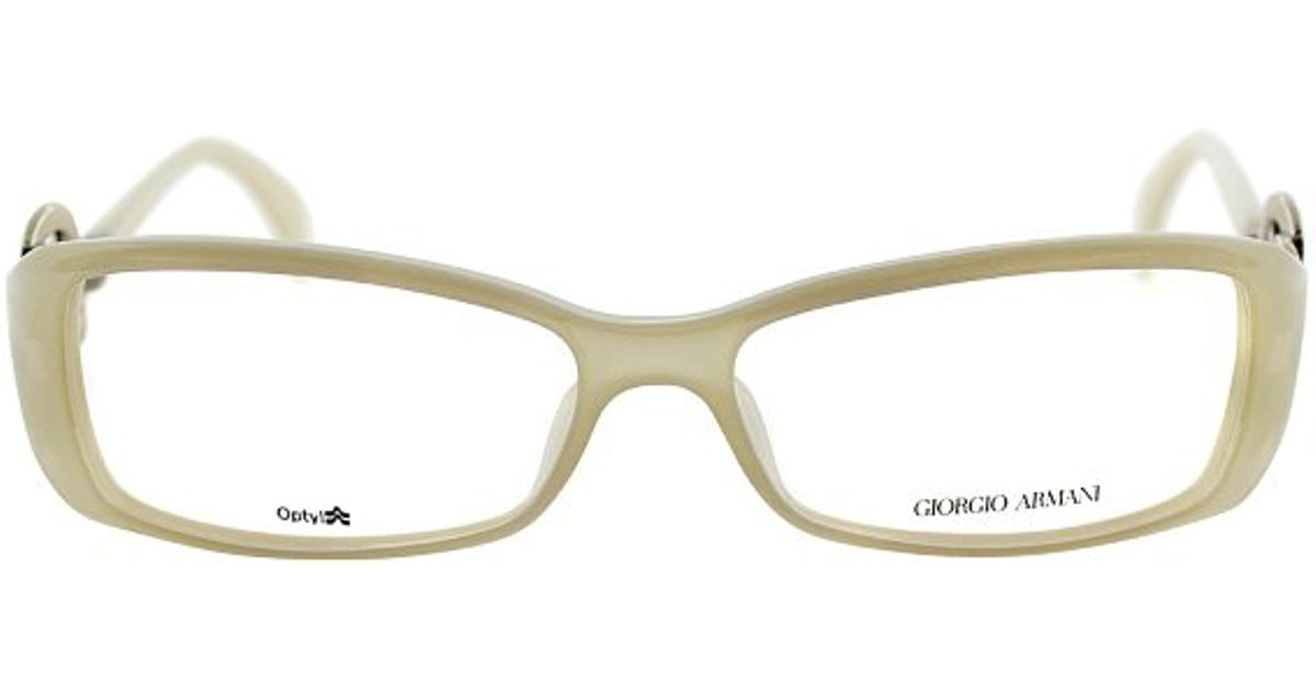 Armani Glasses Frames White : Giorgio armani Ga 720 A57 Opal White Rectangle Metal ...