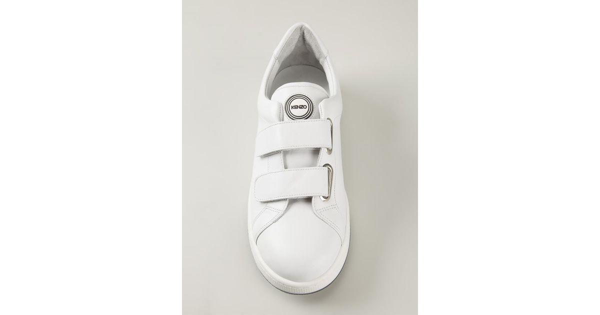 KENZO Velcro Straps Sneakers in White