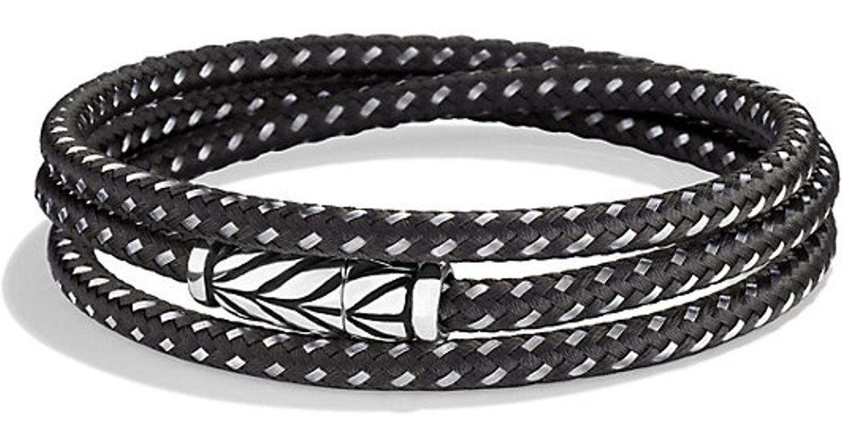 David Yurman Chevron triple-wrap bracelet - Black 2c2SPdExA
