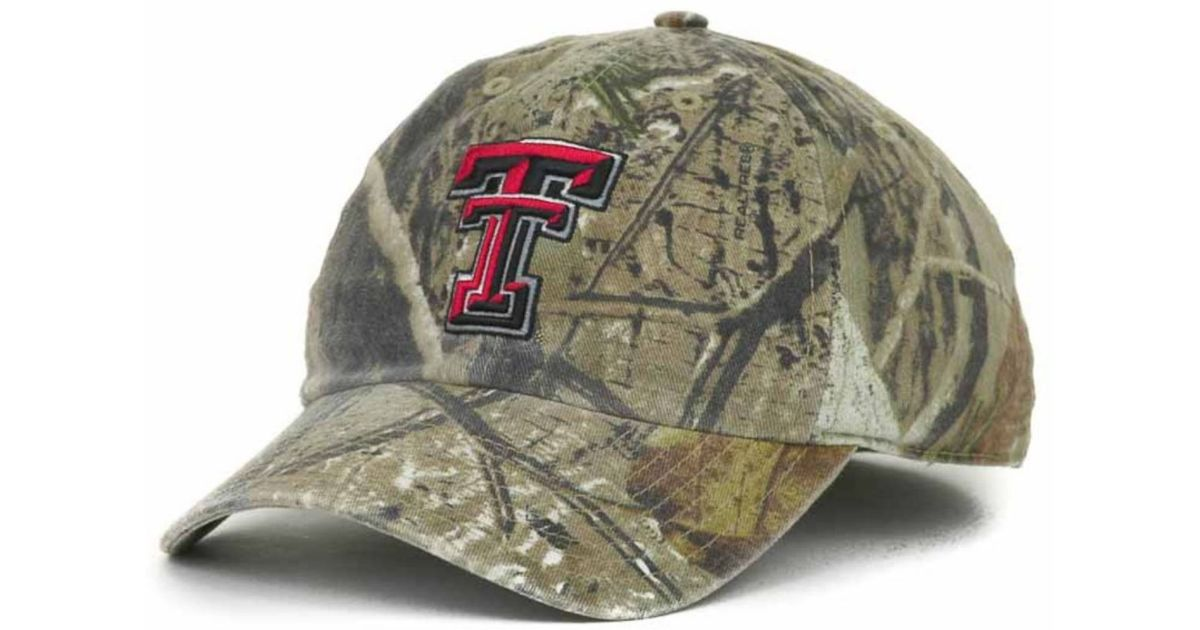 eb7a0d7c774 Lyst - 47 Brand Texas Tech Red Raiders Real Tree Ii Franchise Cap in Green  for Men