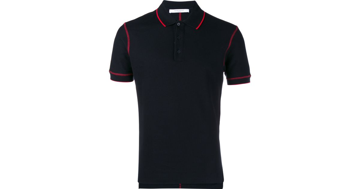 902e35d0 ... netherlands lyst givenchy contrast piping polo shirt in black for men  da889 c7398