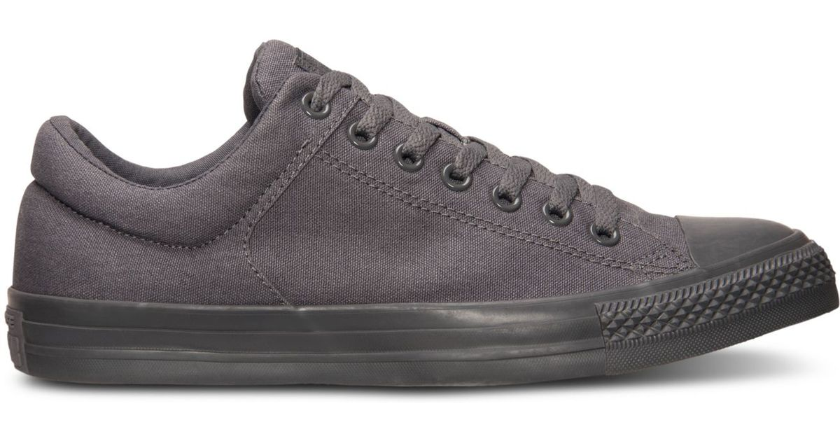 86f17986a19e Lyst - Converse Men s Chuck Taylor Street Ox Casual Sneakers From Finish  Line in Gray for Men