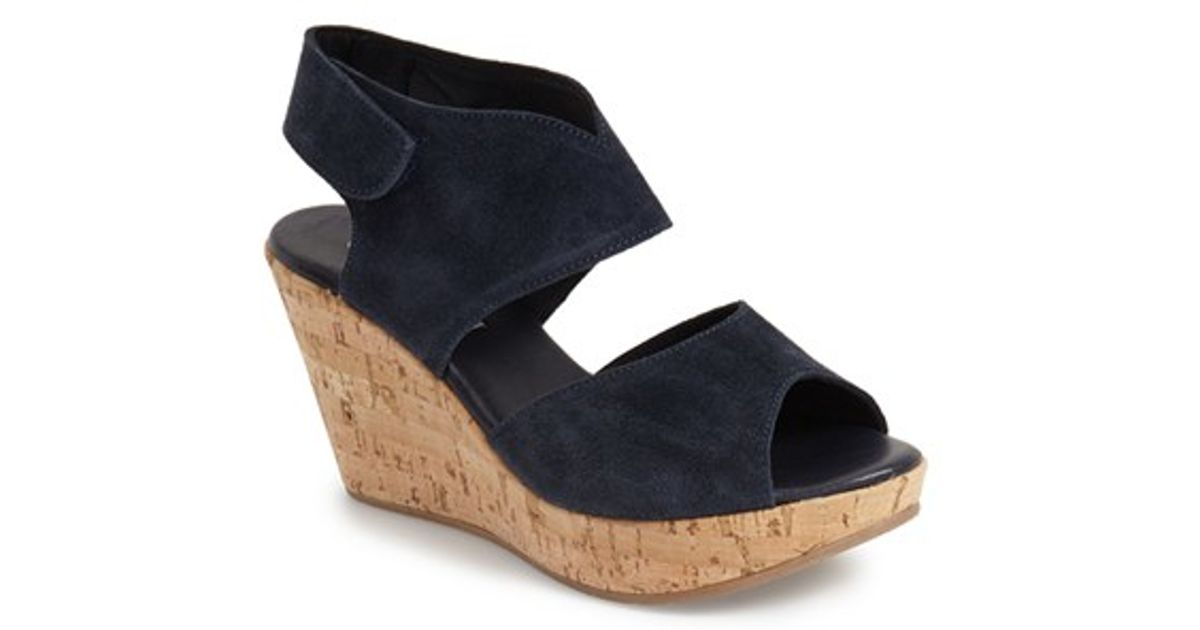 Navy Wedges Shoes - results from brands Easy Street, LifeStride, Bella Vita, products like Easy Street Navy Mable Wedge Slip On, Italian Shoemakers Womens Cruise Wedge Sandals, NBA Women's Oklahoma City Thunder Cuce Shoes Navy Blue Spirited Wedge Pumps, Women's Shoes.