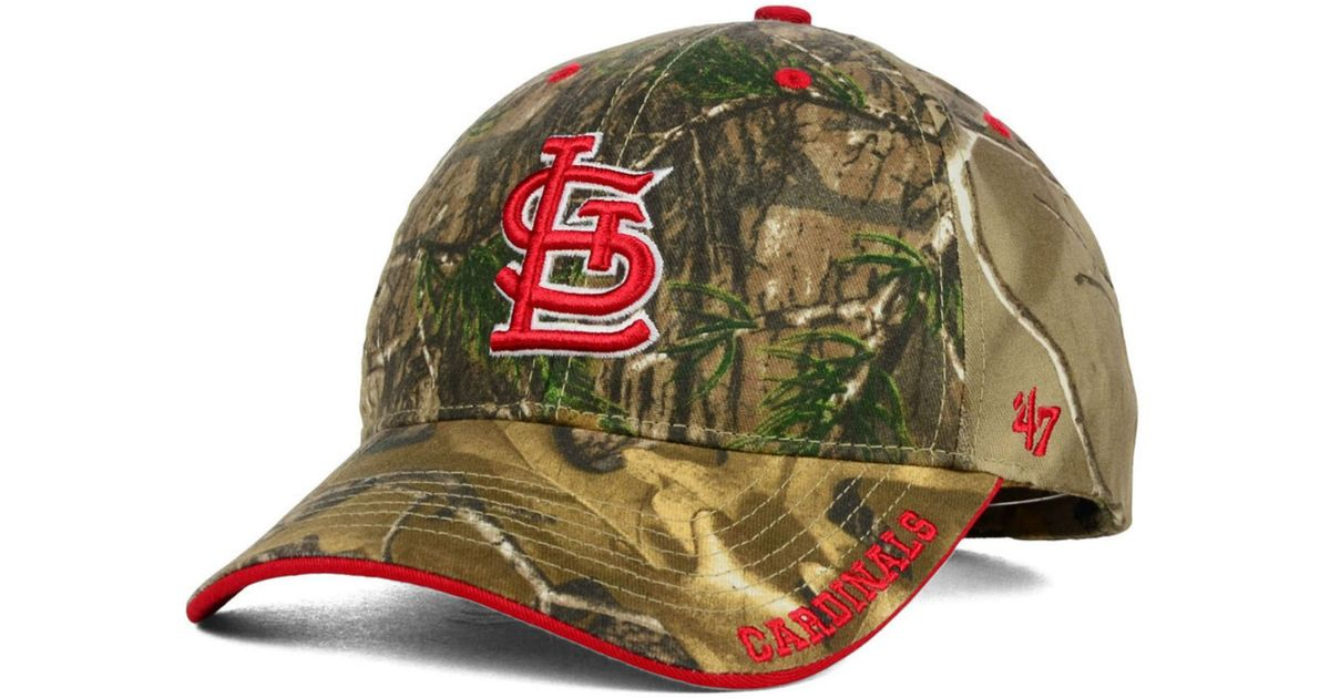 Lyst - 47 Brand St. Louis Cardinals Real Tree Frost Cap in Green for Men 68c9c0aa0bc4
