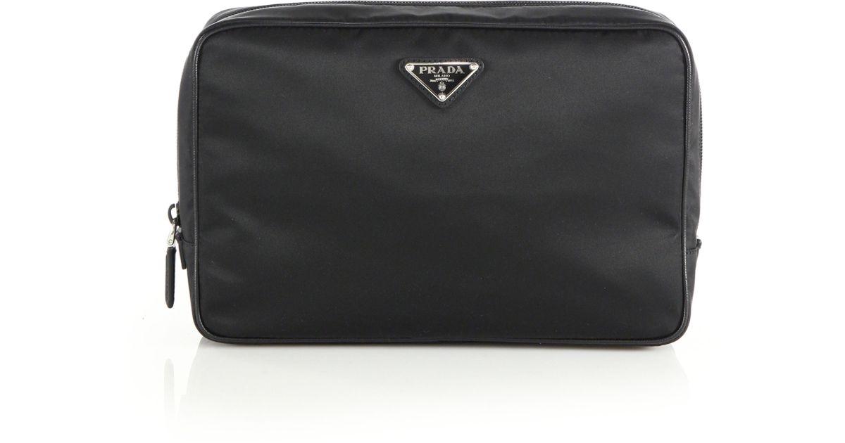dd25d0d1eab0e0 Prada Necessaire Toiletry Kit in Black for Men - Lyst