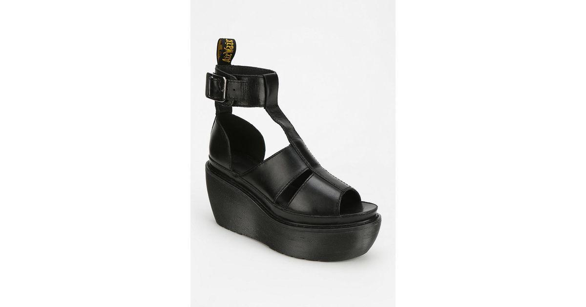 0b5a0521ed84 Lyst - Dr. Martens Bessie Platform Wedge Sandal in Black