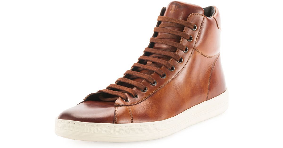 Tom Ford Russell Leather Hightop