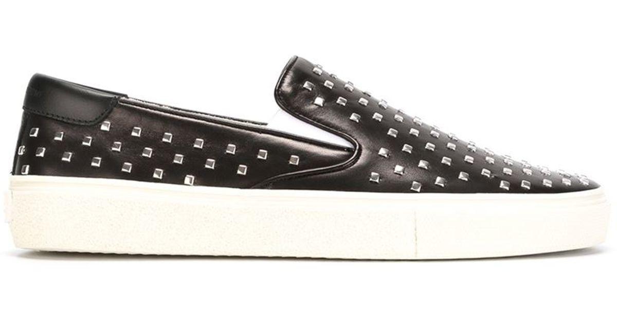 Saint Laurent Studded Slip-on Sneakers