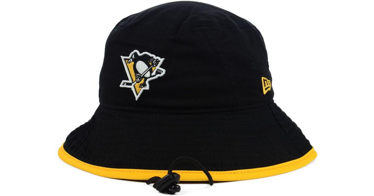 new arrivals b257c d5433 ... czech lyst ktz pittsburgh penguins basic tipped bucket hat in black for  men e7cf2 9e333