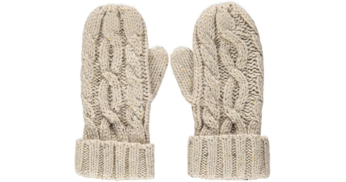 4c9d54c6d Forever 21 Natural Cable Knit Mittens