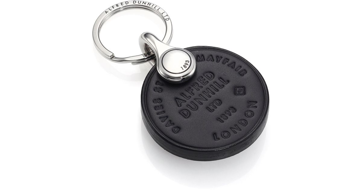 Dunhill Signature Leather Key Chain fhfaiO