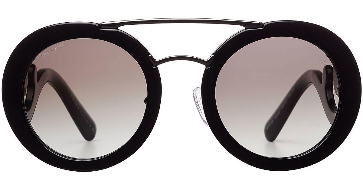 Prada Minimal Baroque Sunglasses in Black