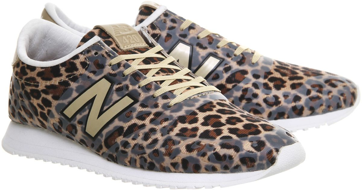 New Balance Natural 420 Leopard-Print Low-Top Sneakers