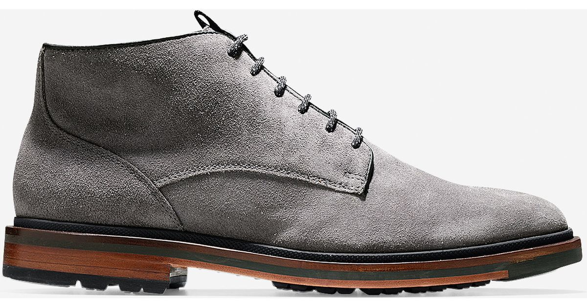 9ffd28646a84 Lyst - Cole Haan Cranston Suede Chukka Boots in Gray for Men