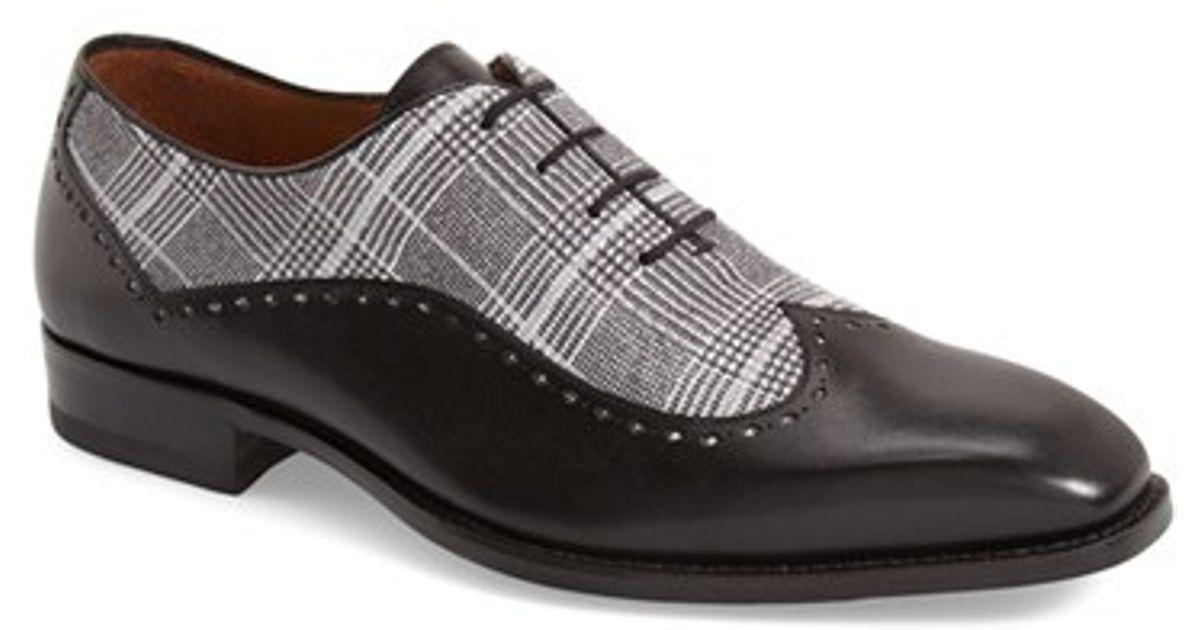 mezlan marti spectator shoe in black for lyst