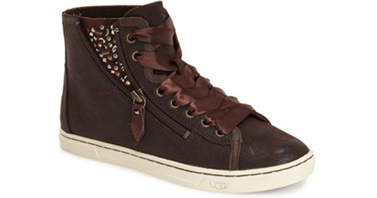 f058e3503a5 UGG Brown 'blaney Crystals' High Top Sneaker