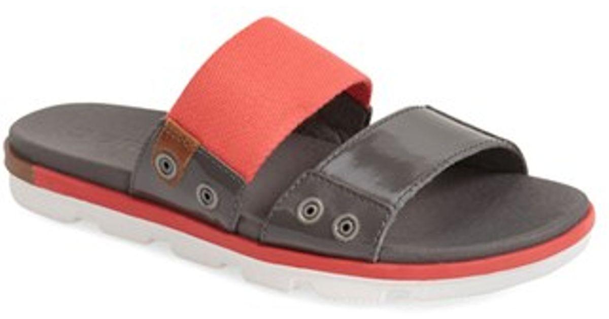 Lyst Sorel Torpeda Slide Sandal In Gray For Men