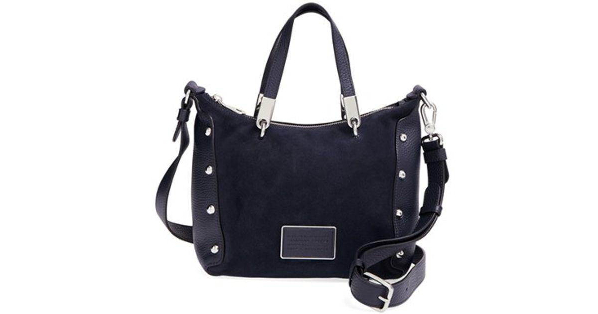 2f0465c2cdad Lyst - Marc By Marc Jacobs  ligero Nano Ninja  Suede   Leather Crossbody Bag  in Blue