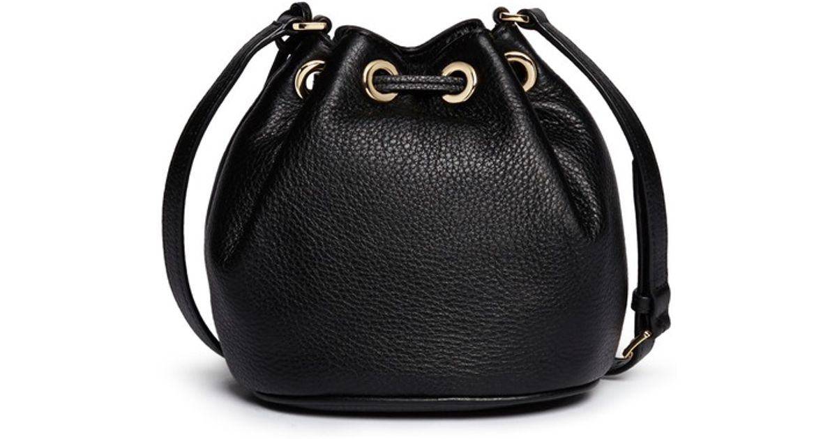 af532a218739 MICHAEL Michael Kors 'Jules' Leather Crossbody Bucket Bag in Black - Lyst