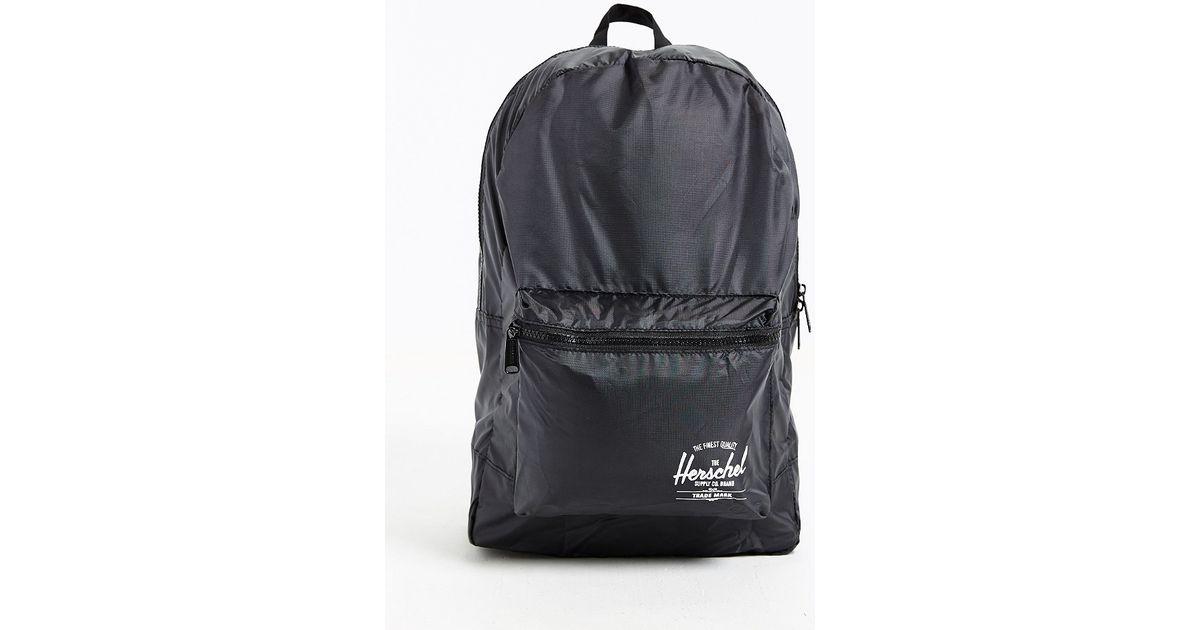 4220eaa17b8 Lyst - Herschel Supply Co. Packable Daypack Backpack in Black