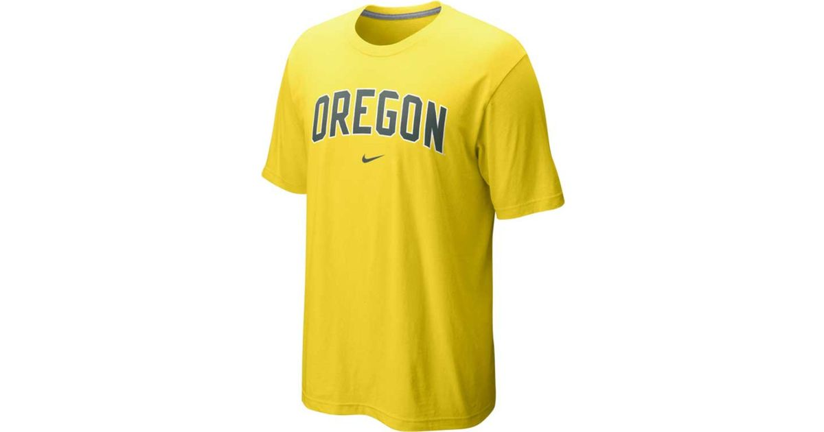 huge selection of 1c55f f73ca Nike Yellow Men's Oregon Ducks Classic Arch T-shirt for men