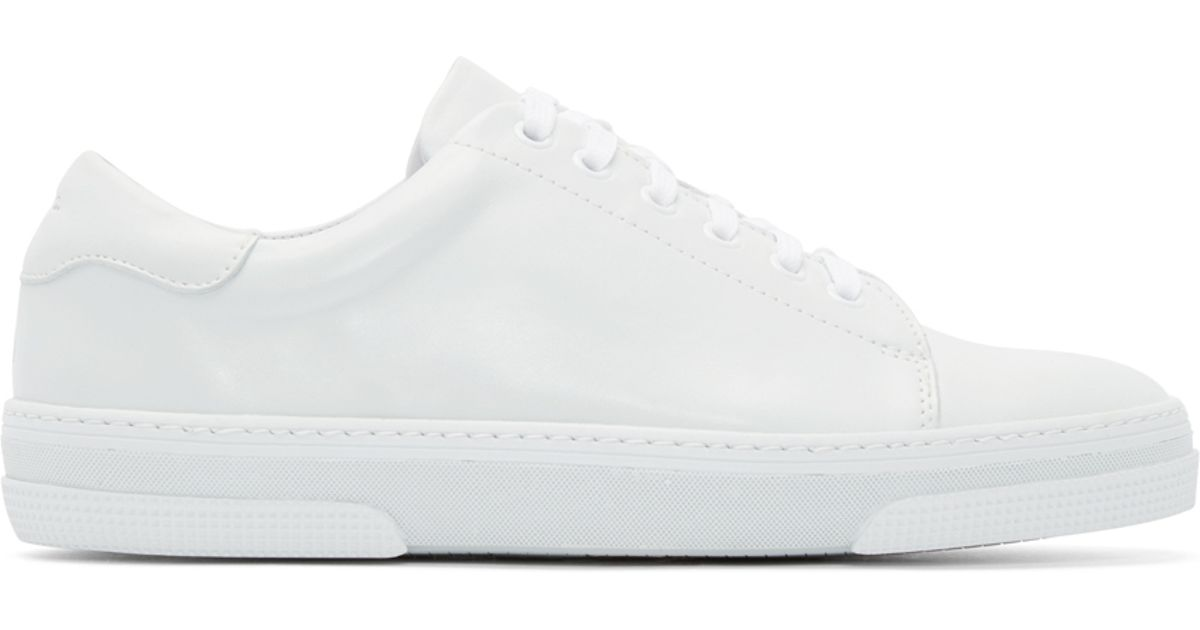 A.P.C. Off-white Leather Tennis