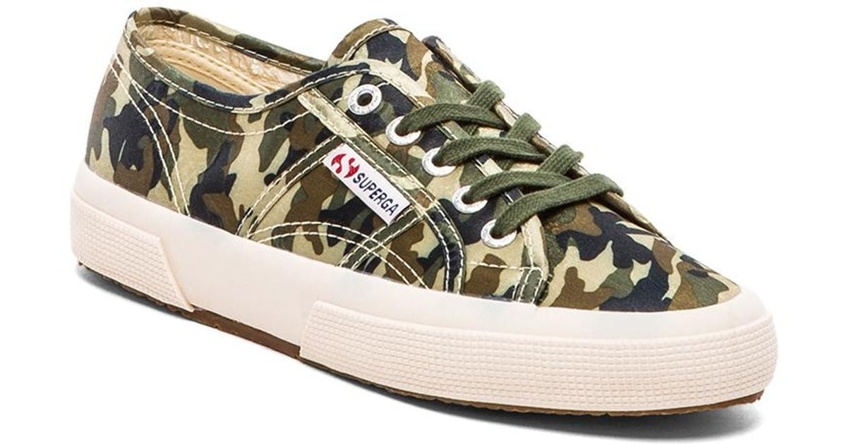 Superga Camouflage Sneakers in Green - Lyst