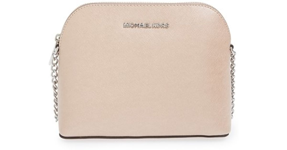 315aaa1ce2b45c MICHAEL Michael Kors 'large Cindy' Dome Crossbody Bag in Pink - Lyst