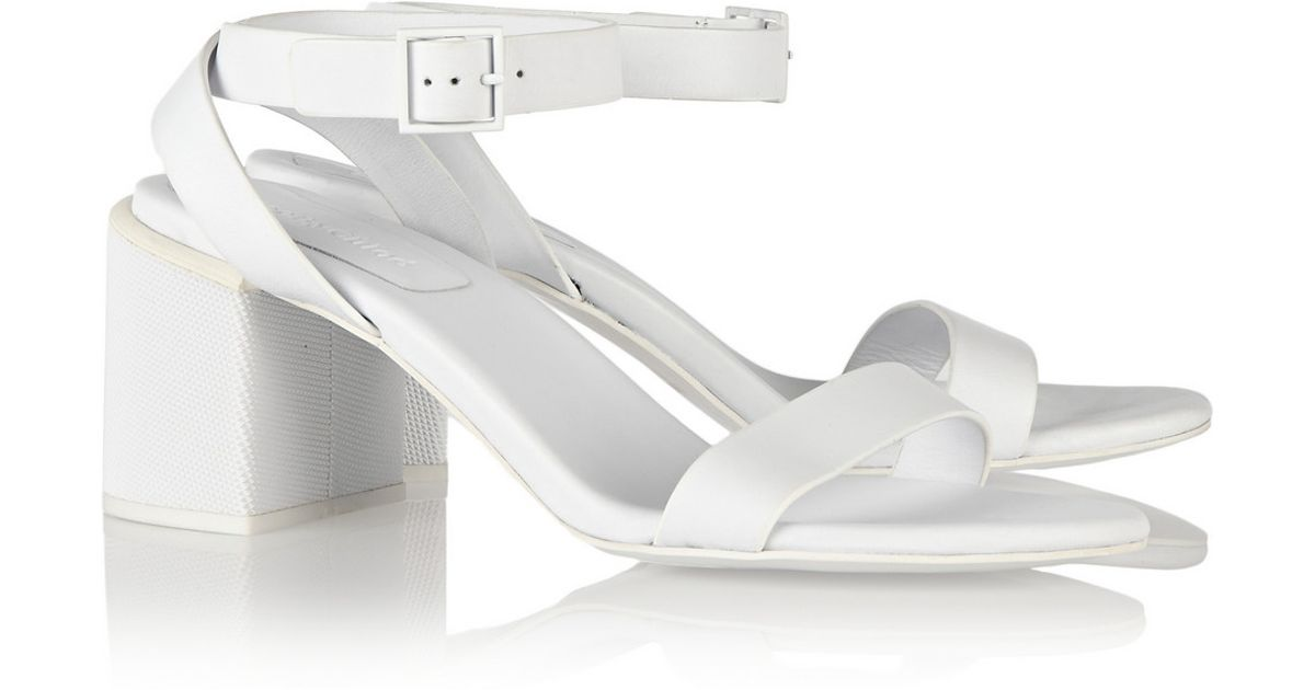 e1e0714d91d1f See By Chloé - White Keeni Leather Sandals - Lyst