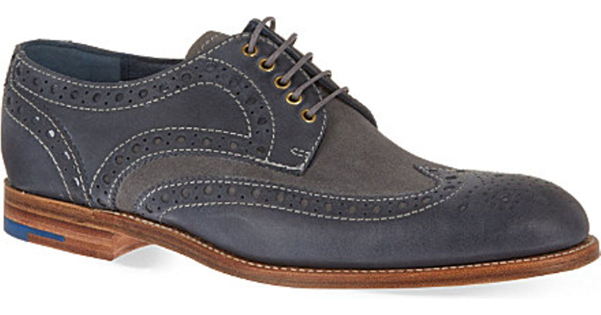 c42481aaa220 Lyst - Barker Thompson Wingtip Derby Shoes in Blue for Men