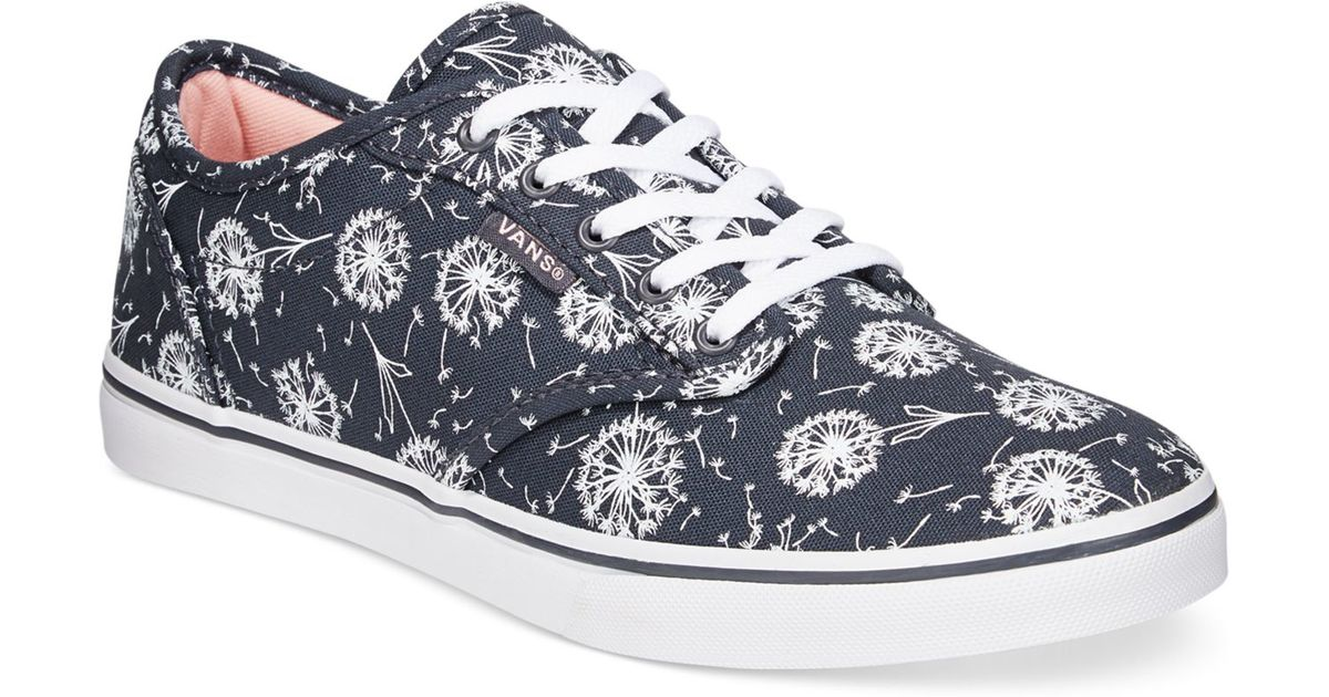 2ab03dc8fc02 Lyst - Vans Women s Atwood Low Dandelion Lace-up Sneakers in Blue
