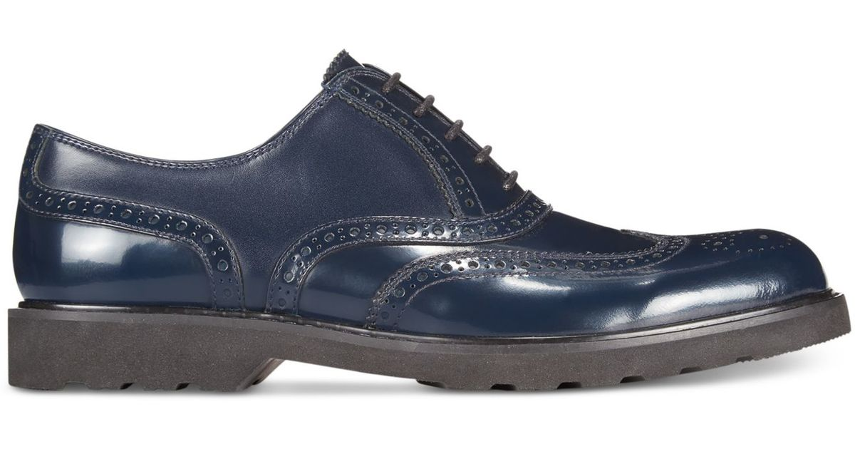 Kenneth Cole Reaction Leather Suite Life Oxfords In Navy