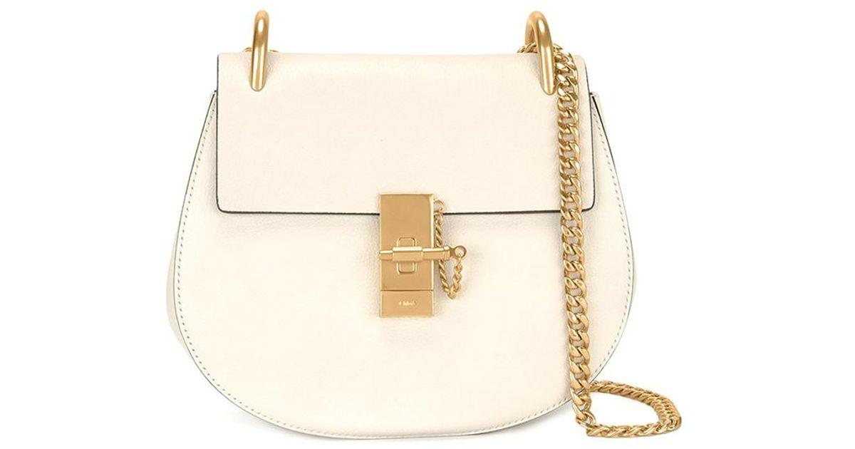 79e8b80842 Chloé Drew Small Saddle Bag In Off White
