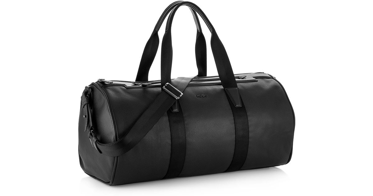For Weekender Bag Black Leather Men Hugo 'tamer' 80wPNnkZOX