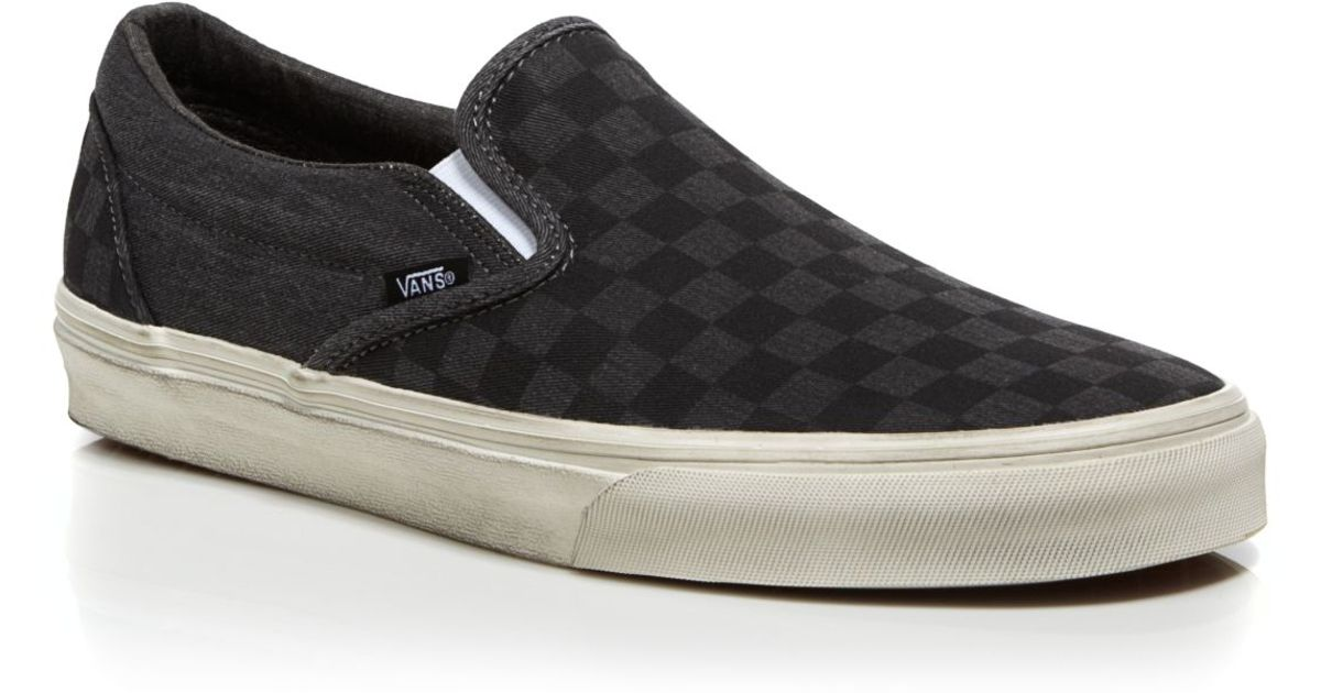 7a28ae33e56 black checkered slip on vans