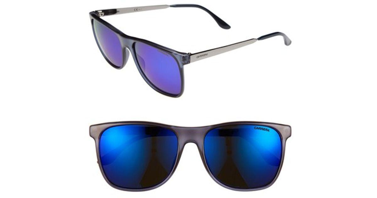 6456497844ad Lyst - Carrera 57mm Retro Sunglasses - Transparent Blue for Men