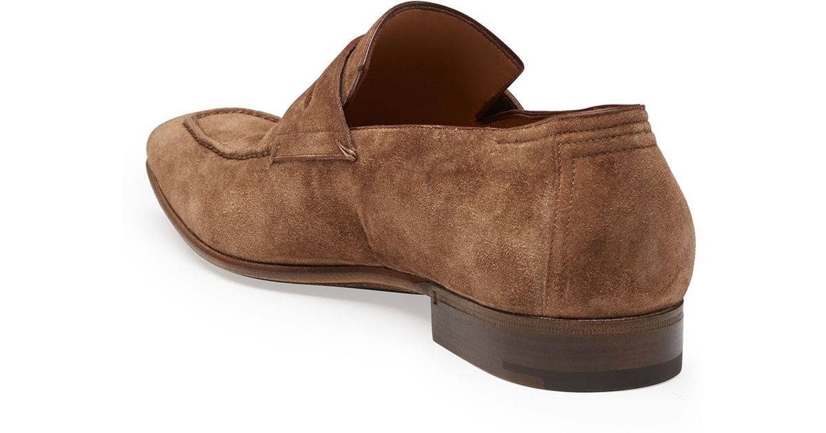 9c266c08bd7b3 Berluti Andy Suede Penny Loafer in Brown for Men - Lyst