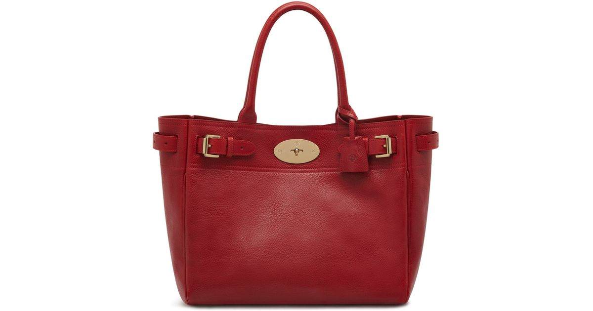Mulberry Bayswater Tote In Poppy Red