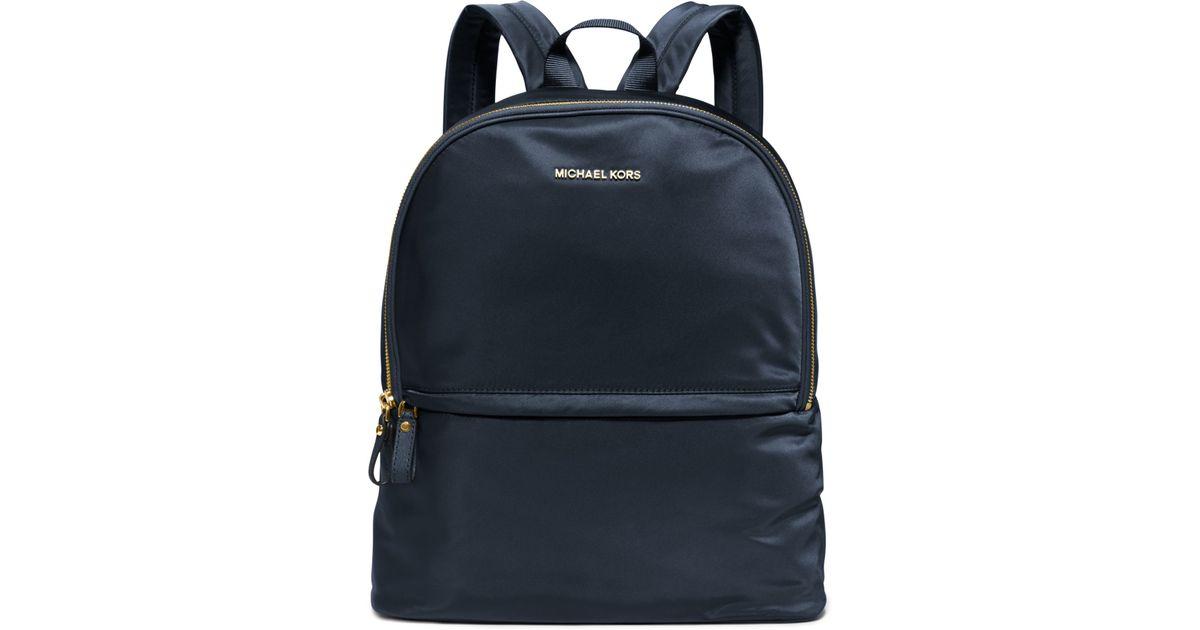 93d817576422bd 855dd 1e873; promo code for lyst michael kors kieran large nylon backpack  in blue 29f02 ec843