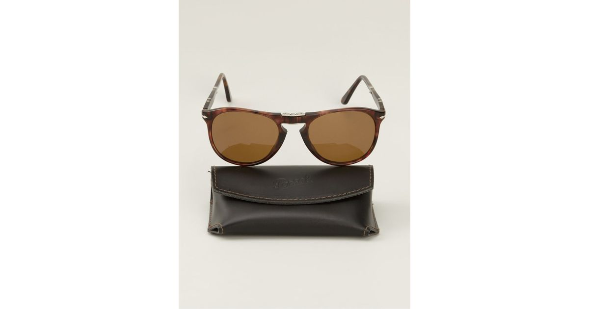 5baf19e477 Lyst - Persol Foldable  steve Mcqueen  Sunglasses in Brown