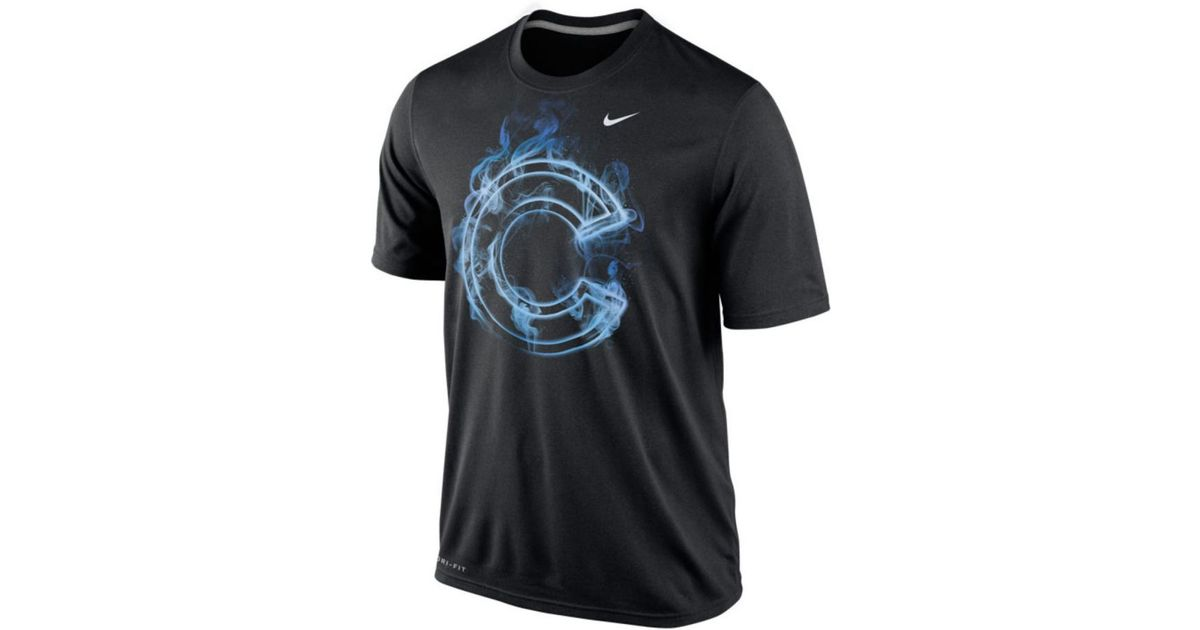 Lyst - Nike Men s Chicago Cubs Legend Vapor T-shirt in Black for Men 7442b21d5