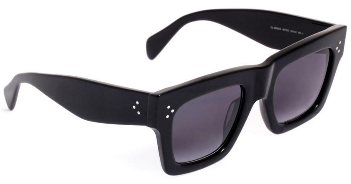 2d9c02bd69a Céline Square Acetate Sunglasses in Black - Lyst