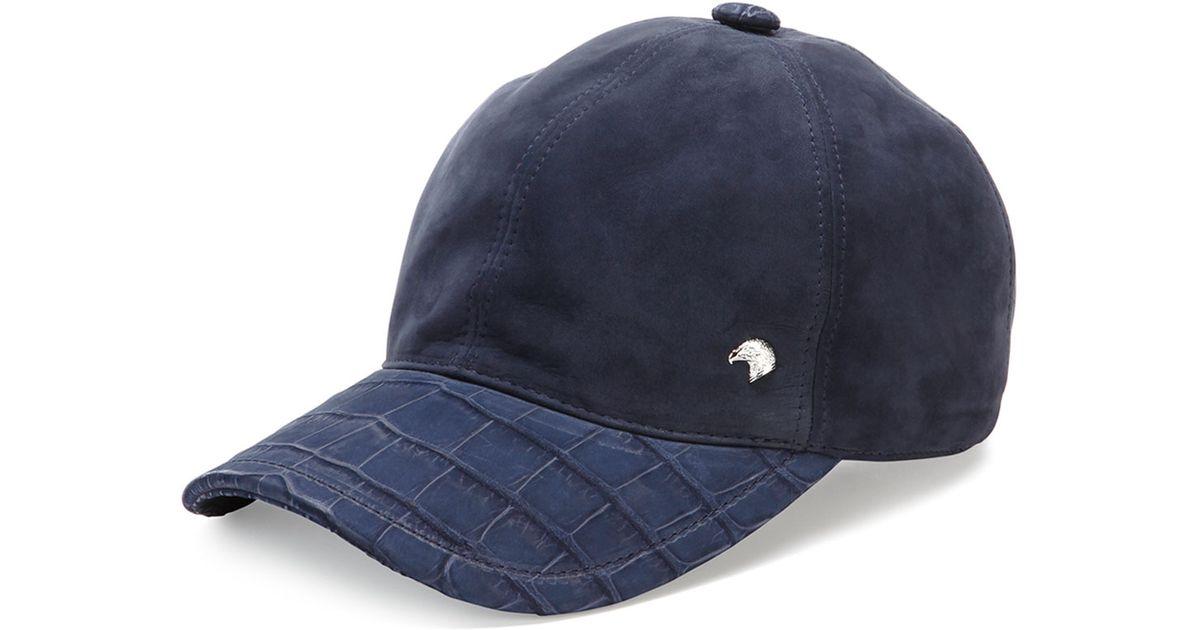 Lyst - Stefano Ricci Croc-detail Baseball Hat in Blue for Men 1f8078472273