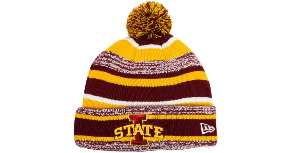 7413416cd53eb3 ... promo code for lyst ktz iowa state cyclones sport knit hat in red for  men 02412