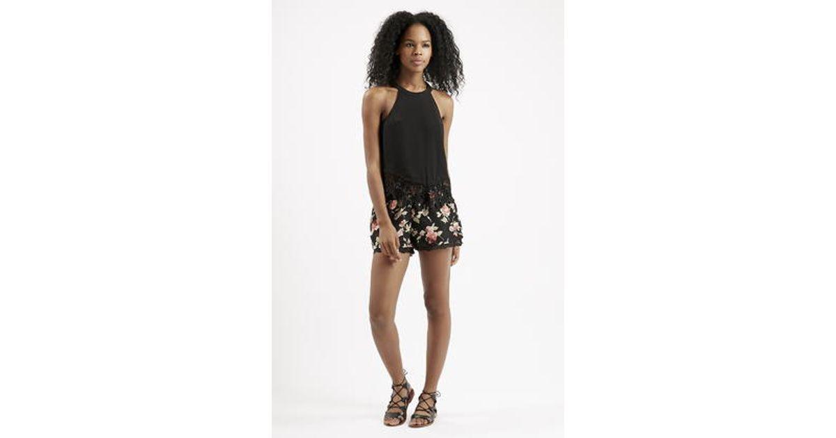 863d857bec6 TOPSHOP Crochet Halterneck Top By Glamorous in Black - Lyst
