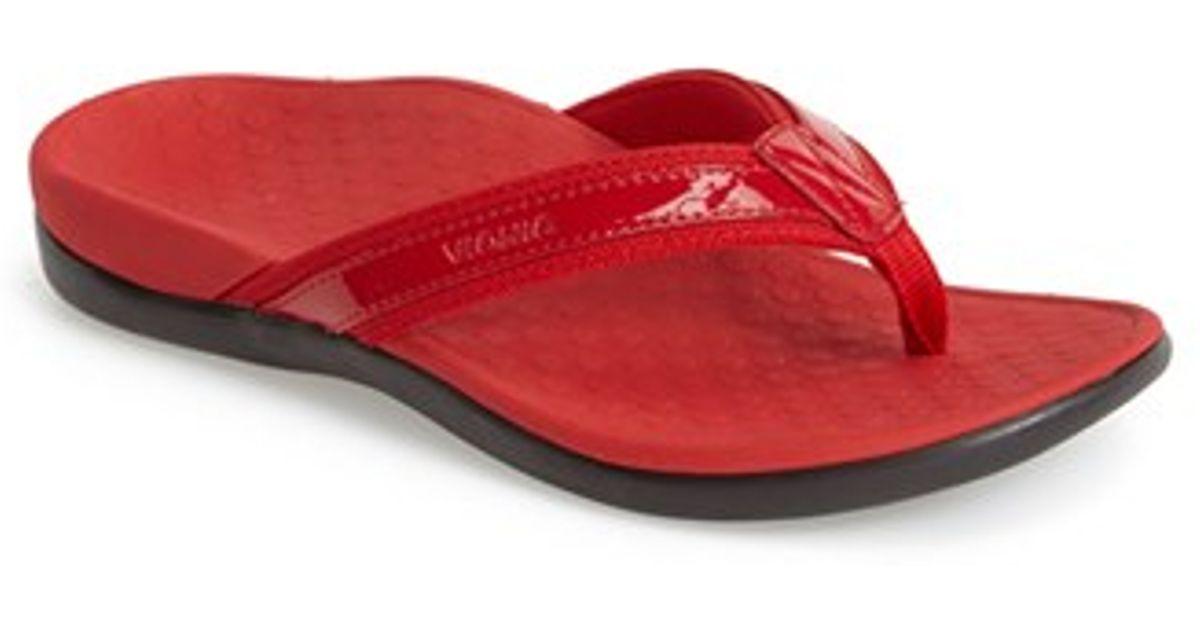 Vionic Tide Ii Flip-Flops In Red  Lyst-2075