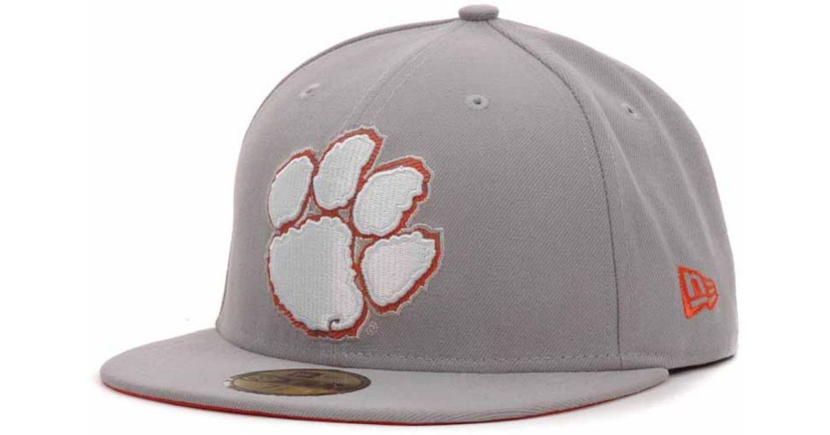 lowest price ee6c7 c5951 ... greece lyst ktz clemson tigers high risk 59fifty cap in gray for men  a39d1 307cb