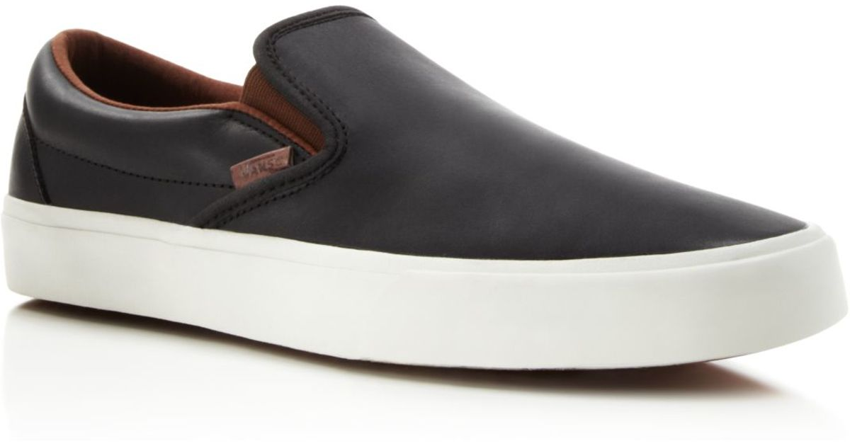 b6ae792d568 Lyst - Vans Classic Slip-on Ca Veggie Leather Sneakers in Black for Men