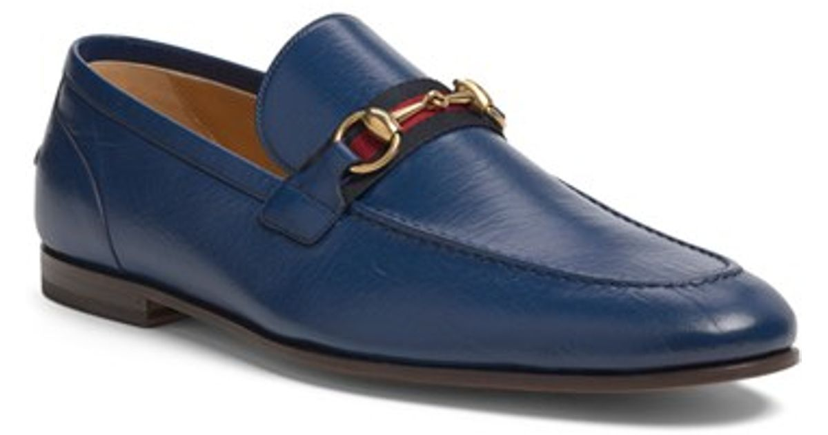 db724a4b15d Lyst - Gucci  elanor  Bit Loafer in Blue for Men