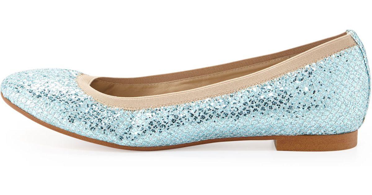 ecd6018d25c6 Lyst - Andrew Stevens Amira Glitter Flat Shoe in Blue